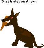Morda o cão esse bocado você. ilustração royalty free
