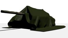 Tanque sob o pato/lona verdes do algodão Imagem de Stock Royalty Free