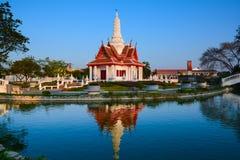 Esta construção do marco é coluna da cidade da província de Phetchaburi fotografia de stock