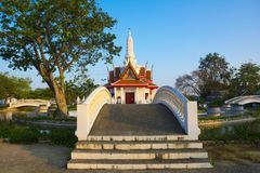 Esta construção do marco é coluna da cidade da província de Phetchaburi fotos de stock