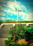 Esta cruz é muito importante em meu país Amen fotografia de stock