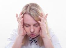 Esta dor de cabeça constante? Imagens de Stock