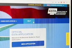 ESTA - Electronic system for travel authorization royalty free stock images