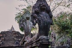 Esta imagem é sobre o naga da estátua, Tailândia Foto de Stock