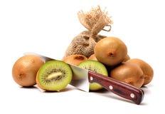 Esta imagem é um kiwifruit Fotos de Stock Royalty Free