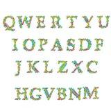 Letras coloridas grandes Fotos de Stock