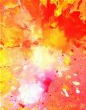 Rosa y pintura anaranjada del arte abstracto Fotos de archivo libres de regalías