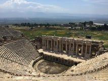 Esta imagen fue tomada desde arriba del teatro de Ephesus en Turquía imagen de archivo