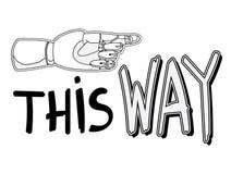 Esta maneira 1 Ilustração do Vetor