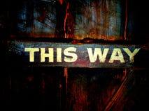 Esta manera Foto de archivo libre de regalías