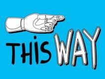 Esta manera 2 Fotografía de archivo libre de regalías