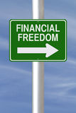 Esta manera a la libertad financiera Imagen de archivo