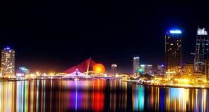 Esta mostra da foto você como bonito da cidade do Da Nang foto de stock royalty free