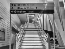 Esta??o de caminhos de ferro de alta velocidade Reggio Emilia fotos de stock