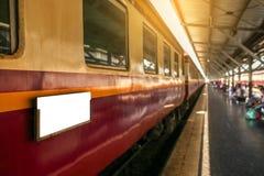 Esta??o de comboio de Hua Lamphong fotografia de stock royalty free