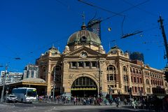 Esta??o Melbourne da rua do Flinders fotografia de stock royalty free