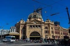 Esta??o Melbourne da rua do Flinders fotografia de stock royalty free
