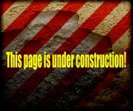 Esta página está sob a construção! Foto de Stock Royalty Free