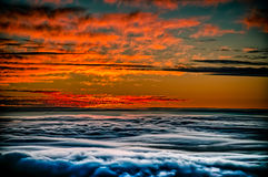 Puesta del sol de Haleakela Imagenes de archivo