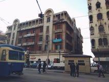 Esta ?rea se llama estaci?n de Raml, Alexandr?a, Egipto fotos de archivo