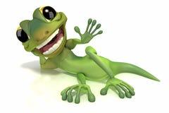 Estabelecimento de ondulação do Gecko Foto de Stock Royalty Free
