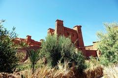 Estabelecimentos no sul de montanhas de atlas Marrocos, África imagem de stock