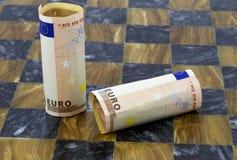 A estabilidade de moeda do Euro é um jogo desequilibrado Foto de Stock Royalty Free
