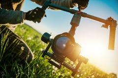 Estabilizador profissional da câmera fotografia de stock royalty free