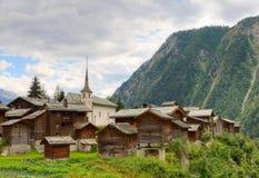 Establecimiento alpestre suizo Blatten, Suiza Foto de archivo libre de regalías