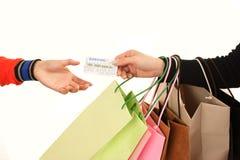 Establecimiento de las compras Imagen de archivo