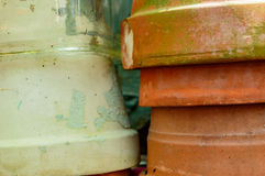Establecimiento de los crisoles Foto de archivo libre de regalías