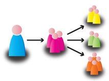 Establecimiento de una red stock de ilustración