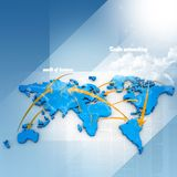 Establecimiento de una red comercial Imagenes de archivo