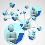 Establecimiento de una red conectado comunicación conectado del ordenador