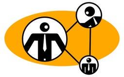 Establecimiento de una red de los hombres de negocios Imágenes de archivo libres de regalías