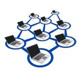 Establecimiento de una red del ordenador Imagen de archivo