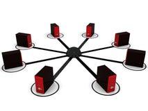 Establecimiento de una red del ordenador Foto de archivo
