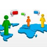Establecimiento de una red global stock de ilustración