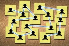 Establecimiento de una red para el concepto del éxito Imagenes de archivo