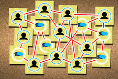 Establecimiento de una red para el concepto del éxito Fotografía de archivo libre de regalías
