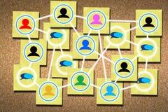 Establecimiento de una red para el concepto del éxito Imágenes de archivo libres de regalías