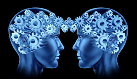 Establecimiento de una red principal de las comunicaciones del cerebro stock de ilustración