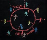 Establecimiento de una red social Foto de archivo libre de regalías