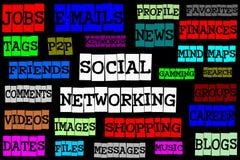 Establecimiento de una red social Fotos de archivo libres de regalías
