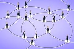 Establecimiento de una red social Imagenes de archivo