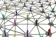 Establecimiento de una red social humano complicado Foto de archivo libre de regalías