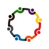 Establecimiento de una red social Logo Illustration Fotografía de archivo libre de regalías