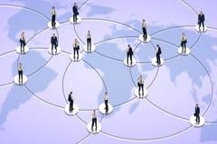 Establecimiento de una red social y asunto global Imágenes de archivo libres de regalías