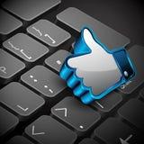 Establecimiento de una red, teclado o telclado numérico social Fotos de archivo libres de regalías