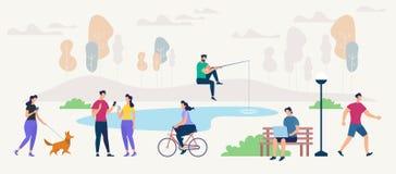 Establecimiento de una red y comunicación sociales Vector libre illustration